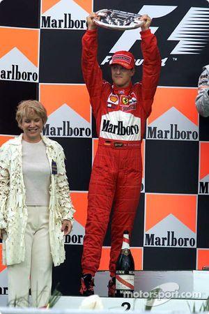 Michael Schumacher sur le podium