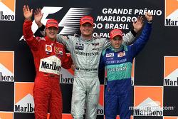 Podium: 1. David Coulthard, McLaren; 2. Michael Schumacher, Ferrari; 3. Nick Heidfeld, Sauber