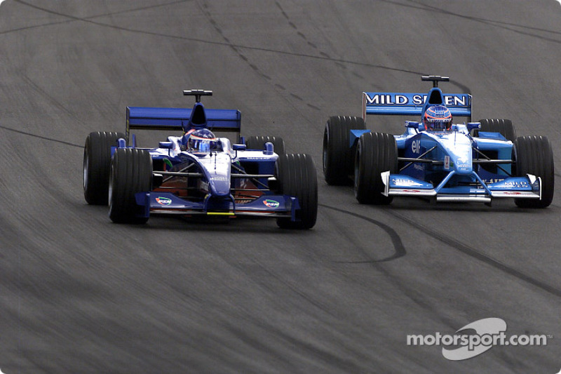 Gaston Mazzacane y Jenson Button