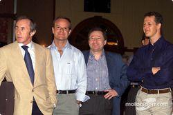 Jackie Stewart, Rubens Barrichello, Jean Todt ve Michael Schumacher
