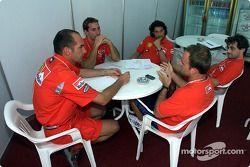 Technical meeting ve Rubens Barrichello