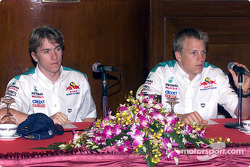 Equipo Sauber Petronas en Johor Bahru: Nick Heidfeld y Kimi Raikkonen