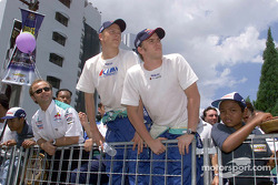 Equipo Sauber Petronas en Johor Bahru: Kimi Raikkonen y Nick Heidfeld