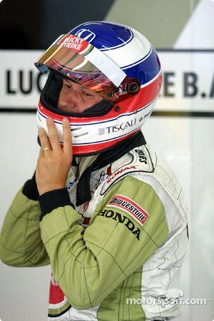 Olivier Panis antes de la carrera