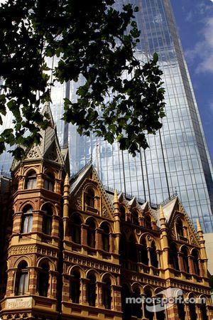 Arquitectura antigua y moderna en Melbourne