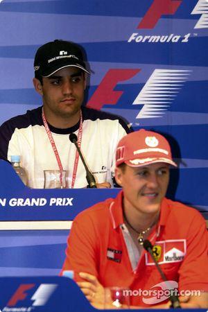 Conferencia de prensa: Juan Pablo Montoya y Michael Schumacher