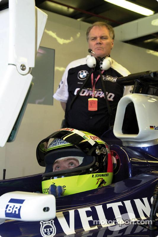Patrick Head and Ralf Schumacher