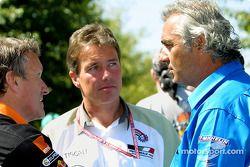Craig Pollock, Tom Walkinshaw y Flavio Briatore