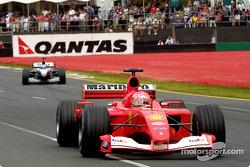 Michael Schumacher and Mika Hakkinen