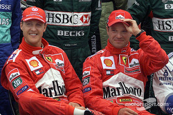 Drivers presentation: Michael Schumacher and Rubes Barrichello