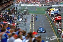 Jenson Button in the pitlane