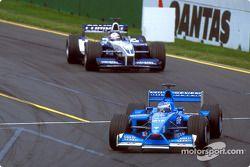 Giancarlo Fisichella y Juan Pablo Montoya