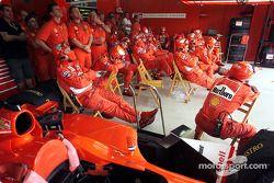 El Equipo Ferrari entre paradas de pits