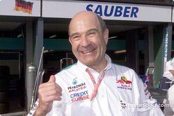 Un excelente fin de semana para un contento Peter Sauber