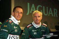 Luciano Burti y Eddie Irvine