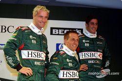 Eddie Irvine, Luciano Burti et Tomas Scheckter