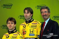 Jarno Trulli, Heinz-Harald Frentzen ve Eddie Jordan