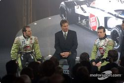 Jacques Villeneuve, Craig Pollock and Olivier Panis