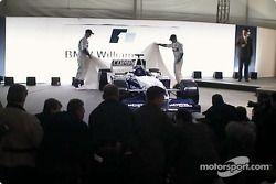 Ralf Schumacher ve Juan Pablo Montoya unveiling FW25