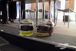Les casques de Ralf Schumacher et Juan Pablo Montoya