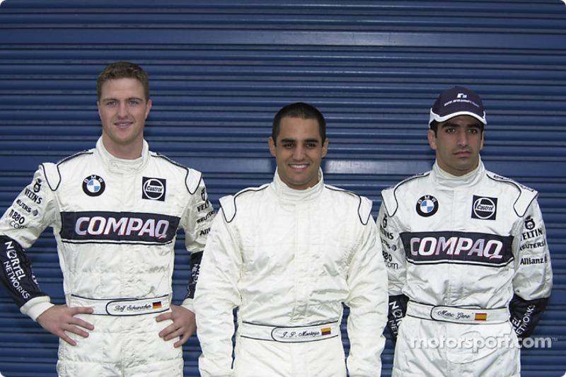 Ralf Schumacher, Juan Pablo Montoya y Marc Gené