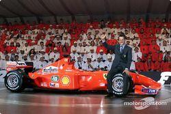 Schumi avec sa voiture numéro 1