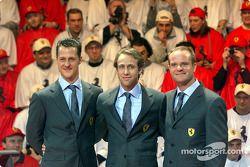 Michael Schumacher, Luca Badoer et Rubens Barrichello