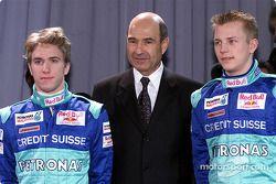 Nick Heidfeld, Peter Sauber y Kimi Raikkonen