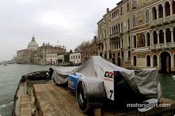 Nacimiento en Venecia: el B201 acercándose a la Plaza San Marcos en Venecia