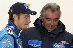 Jenson Button y Flavio Briatore
