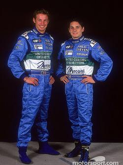 Los pilotos Jenson Button y Giancarlo Fisichella