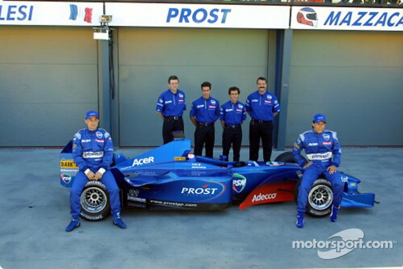 Jean Alesi, Henri Durand, Pedro Diniz, Alain Prost, Joan Villadelprat y Gaston Mazzacane