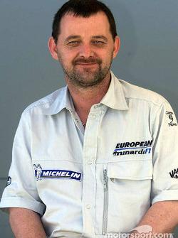 El presidente y CEO de Minardi Paul Stoddart