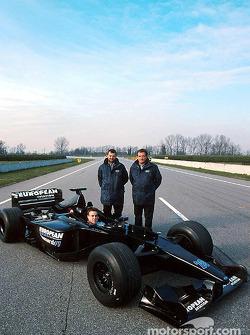 Fernando Alonso, Paul Stoddart and Gian Carlo Minardi