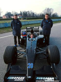 Paul Stoddart, Fernando Alonso y Gian Carlo Minardi
