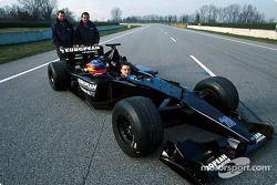 Paul Stoddart,Gian Carlo Minardi and Fernando Alonso