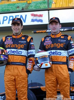Enrique Bernoldi and Jos Verstappen