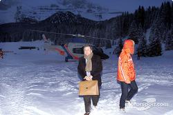 Jean Todt arrives in Madonna di Campiglio
