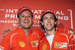 Luca Badoer y Rubens Barrichello