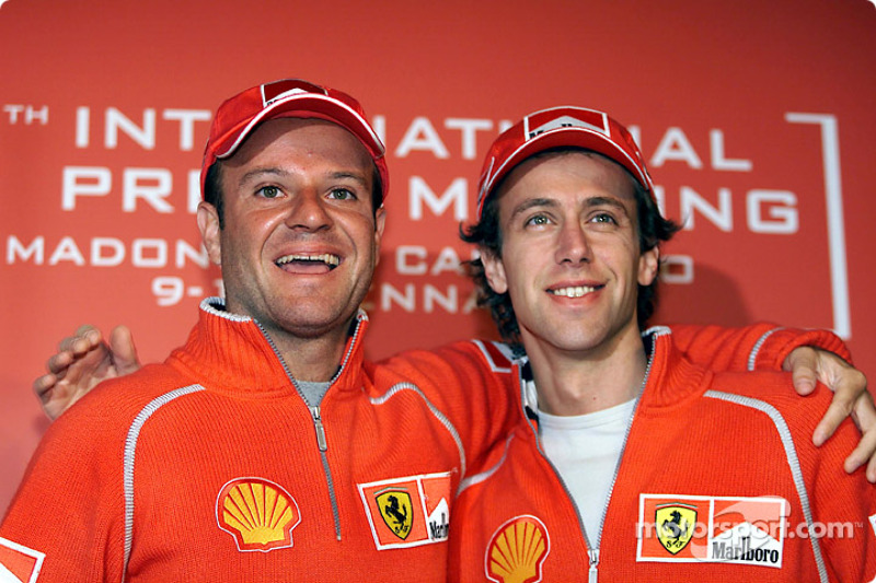 Luca Badoer and Rubens Barrichello