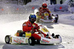 Rally style: Tommi Makinen in front of Michael Schumacher