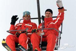 Michael Schumacher durante el día de ski