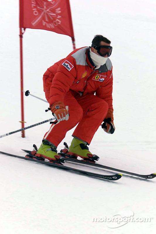 Michael Schumacher en el Slalom Gigante