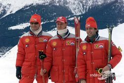 Rubens Barrichello, Michael Schumacher and Luca Badoer