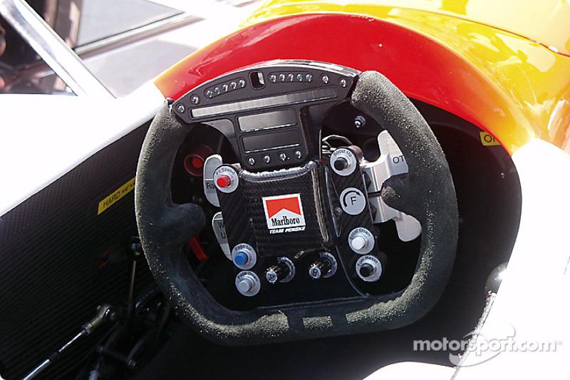 Marlboro Team Penske car: steering wheel