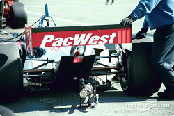 PacWest Racing working on the Scott Dixon car
