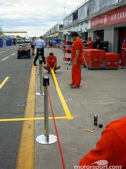 Area de parada de pits de Ferrari