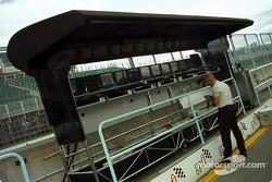 Estación de control del muro de pits de McLaren