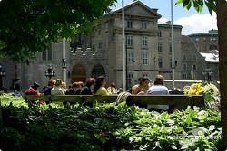 El Viejo Montreal, frente a la Basílica Notre-Dame