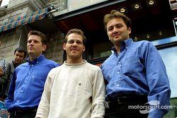 Hey, I'm a club owner now: Jacques Villeneuve ve his Newtown business partners Martin Poitras ve Jea